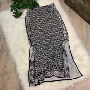 Max Studio Side Slit Maxi Skirt